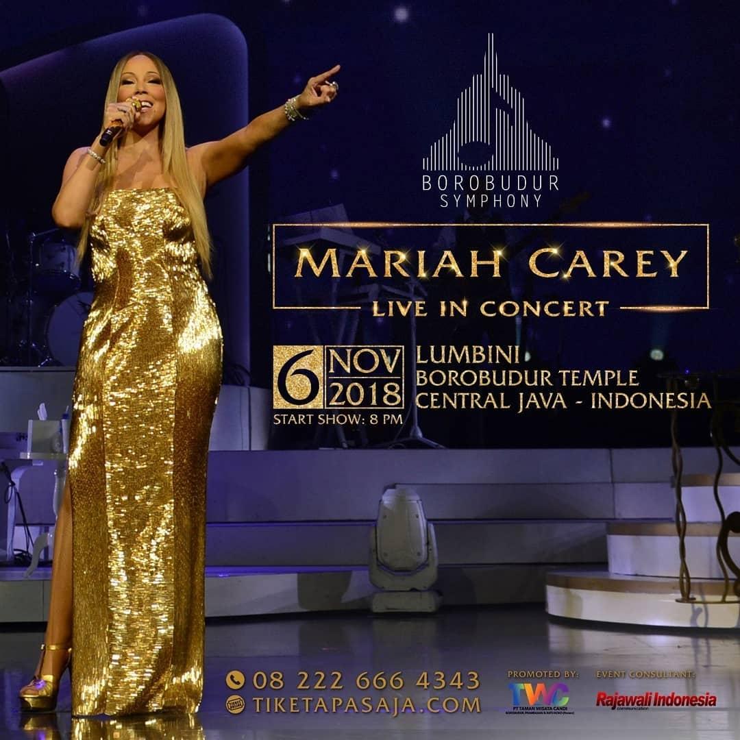 Mariah Carey Siap Mengguncang Borobudur Symphony