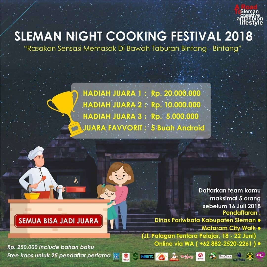 Sleman Temple Run dan Sleman Night Cooking Festival 2018