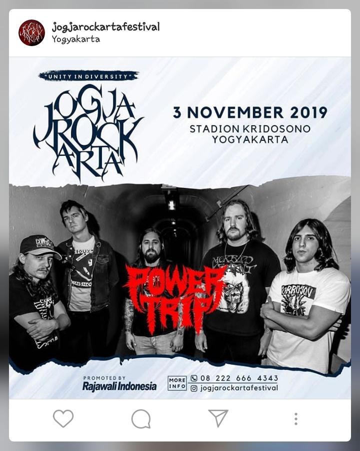 Power Trip menjadi salah satu headliner di gelaran Jogjarockarta 2019