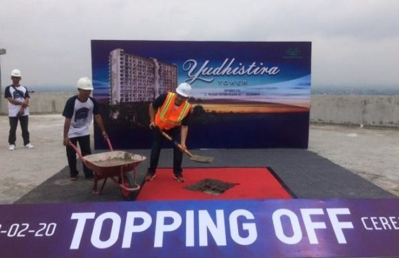 Topping Off Apartemen Yudhistira Tower
